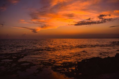 camping con vistas al mar